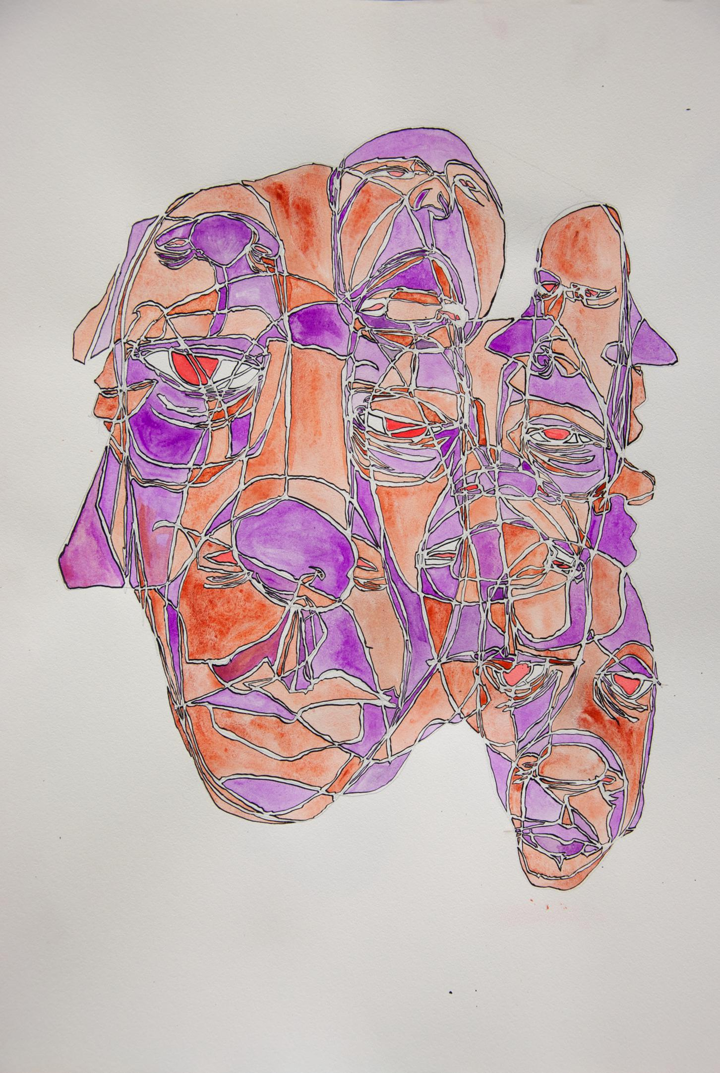 Untitled. May 2012. 117 x 77 cm. Ink and gouache on paper